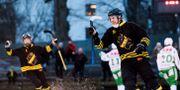 Patrik Nilsson i AIK:s mundering.  Erik Simander/TT / TT NYHETSBYRÅN