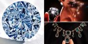 En blå diamant samt en ring och ett halsband/arkivbild.  TT/AP