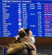 Illustrationsbild: Resenär på Arlanda.  TT NEWS AGENCY / TT NYHETSBYRÅN