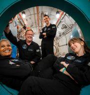 Sian Proctor, Chris Sembroski, Jared Isaacman och Hayley Arceneaux befinner sig just nu i rymden. Arkivbild. John Kraus / TT NYHETSBYRÅN