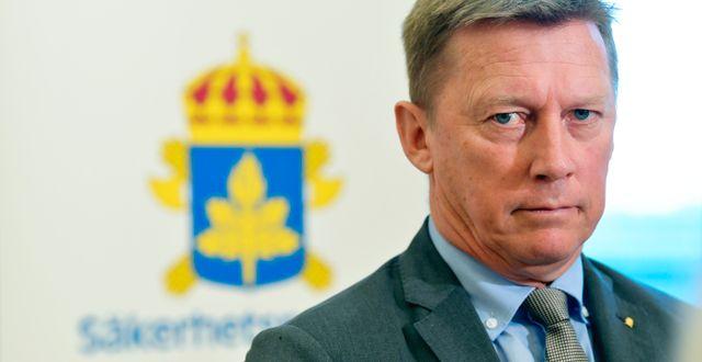 Säpochefen Klas Friberg. Henrik Montgomery/TT / TT NYHETSBYRÅN