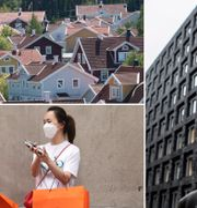 Arkivbilder: Villaområde utanför Stockholm, Kvinnor med shoppingkassar i New York, riksbankschefen Stefan Ingves. TT
