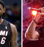 LeBron James och Method Man. AP