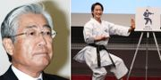 Tsunekazu Takeda och karateutövaren Kiyo Shimizu. TT