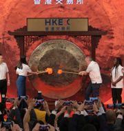 Arkivbild: Alibaba noterades på Hongkongbörsen i november 2019.  Kin Cheung / TT NYHETSBYRÅN