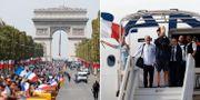 Fansen samlas i Paris / Laget landar. TT.