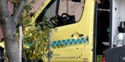 Den kapade ambulansen. Skotthål i bile Stian Lysberg Solum / TT NYHETSBYRÅN