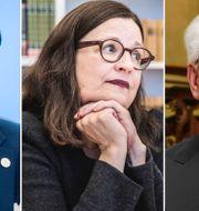 Andreas Norlén, Anna Ekström, Åke Göransson. Arkivbilder. TT