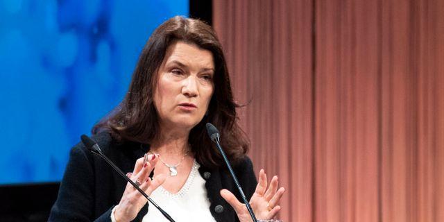 Utrikesminister Ann Linde (S). Henrik Montgomery/TT / TT NYHETSBYRÅN