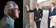 Nobelstiftelsens ordförande Lars Heikensten, Akademiens Horace Engdal och Mats Malm. Arkivbilder TT