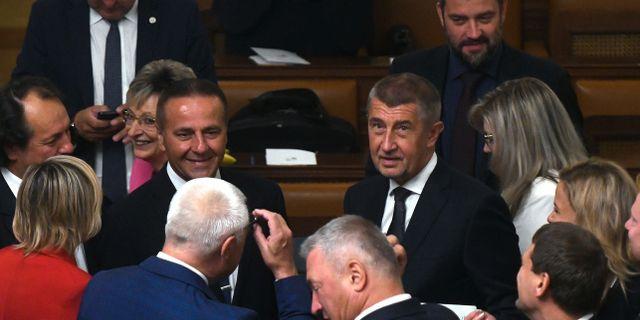 Tjeckiens premiärminister Andrej Babis efter gårdagens förtroendeomröstning.  MICHAL CIZEK / AFP
