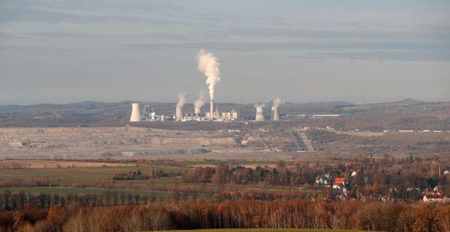 Kolgruvor och kolkraftverk i Turow. Petr David Josek / TT NYHETSBYRÅN