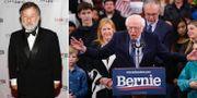 Leif Pagrotsky och Bernie Sanders. TT