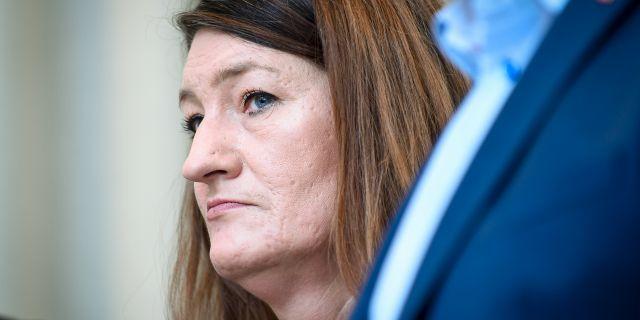 LO:s ordförande Susanna Gideonsson.  Alexander Larsson Vierth/TT / TT NYHETSBYRÅN