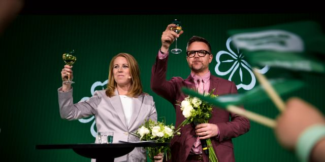 Annie Lööf och Fredrick Federley. Pontus Lundahl/TT / TT NYHETSBYRÅN