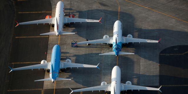 Illustrationsbild: 737 Max-plan. Lindsey Wasson / TT NYHETSBYRÅN