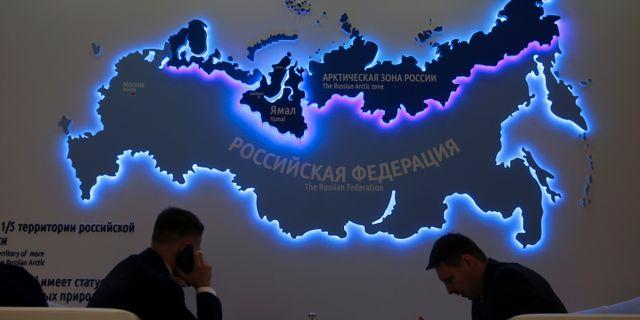 Saint Petersburg 2019-04-09 Participants attend the International Arctic Forum in Saint Petersburg, Russia. ANTON VAGANOV / TT NYHETSBYRÅN