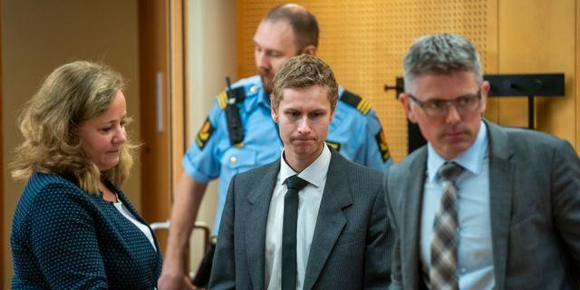 Philip Manshaus i tingsrätten i Oslo. Heiko Junge / TT NYHETSBYRÅN
