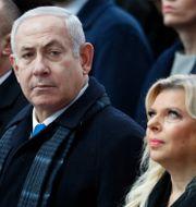 Benjamin Netanyahu med frun Sara Netanyahu. Francois Mori / TT NYHETSBYRÅN