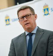 Säpos chef Klas Friberg. Pontus Lundahl/TT / TT NYHETSBYRÅN