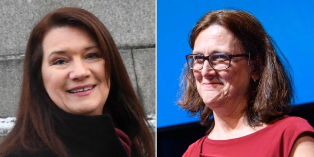Ann Linde/Cecilia Malmström.  TT.