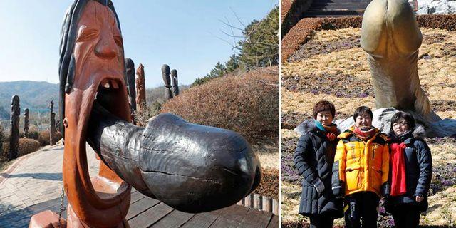 Sydkoreas penispark ligger i den lilla orten Sinnam, cirka 3,5 timmar öster om huvudstaden Seoul. Wikicommons