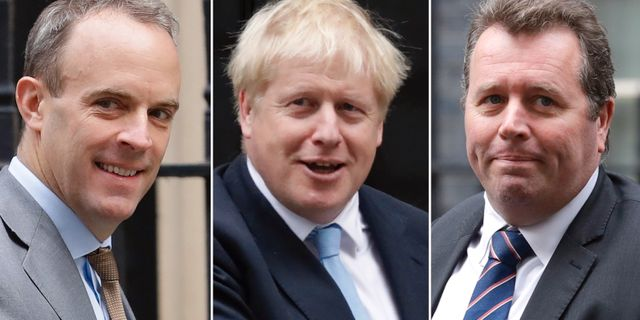 Dominic Raab/Boris Johnson/Mark Spencer. TT