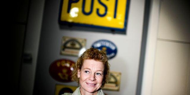 Arkivbild: Postnords vd Annemarie Gardshol. Pontus Lundahl/TT / TT NYHETSBYRÅN