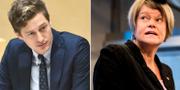 Emil Källström (C) och Ulla Andersson (V). Claudio Bresciani/TT