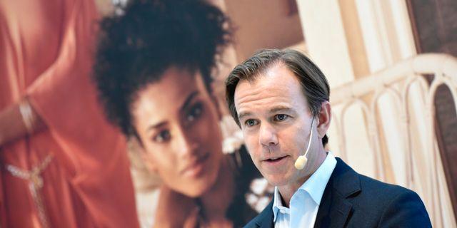 Karl-Johan Persson, H&M:s vd.  Pontus Lundahl/TT / TT NYHETSBYRÅN