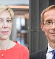 Anna Breman och Robert Bergqvist. TT
