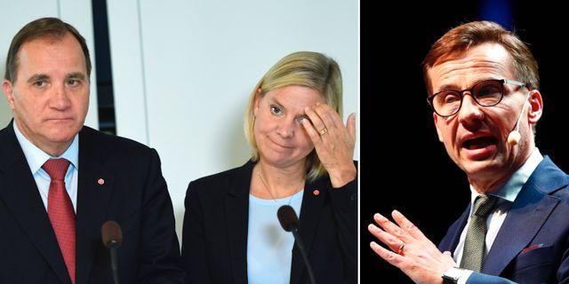 Stefan Löfven, Magdalena Andersson och Ulf Kristersson. TT