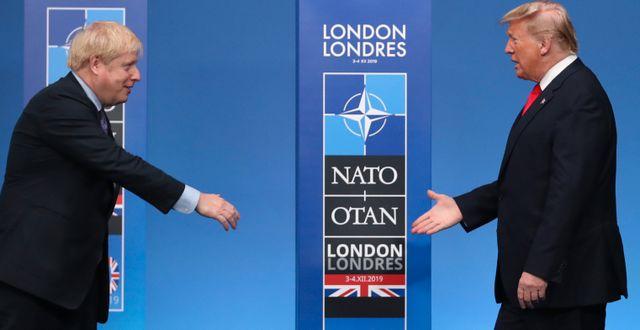 Boris Johnson och Donald Trump. Arkivbild. Francisco Seco / TT NYHETSBYRÅN