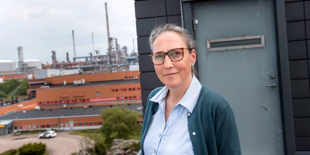 Malin Hallin, chef för hållbar utveckling på Preem. Thomas Johansson/TT / TT NYHETSBYRÅN