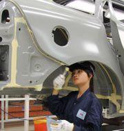Volvo Cars fabrik i kinesiska Chengdu. Arkivbild.  KARIN OLANDER / TT / TT NYHETSBYRÅN