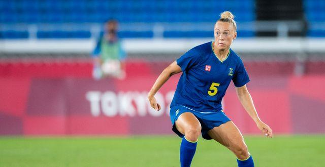 Hanna Bennison under Sveriges match mot Australien i sommarens OS DANIEL STILLER / BILDBYRÅN