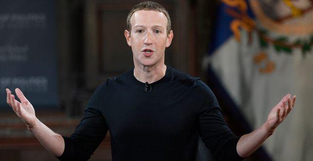 Arkivbild: Facebooks grundare Mark Zuckerberg.  Nick Wass / TT NYHETSBYRÅN