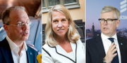 Martin Lundstedt, Helena Stjernholm och Börje Ekholm. Christine Olsson/TT
