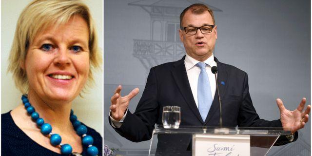 Ann-Cathrine Jungar och Juha Sipilä. Södertörns högskola/TT