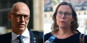 Socialdemokraternas ledamot, Rikard Larsson och Moderaternas migrationspolitiska talesperson Maria Malmer Stenergard.  TT