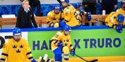 Sverige och förbundskapten Ylva Martinsen deppar efter förlusten mot Japan i VM. Jonas Ekströmer/TT / TT NYHETSBYRÅN