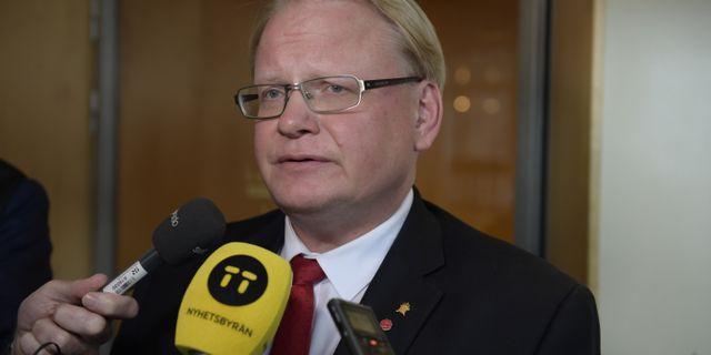 Peter Hultqvist (S). Anders Wiklund/TT / TT NYHETSBYRÅN