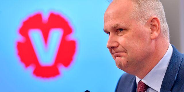 Jonas Sjöstedt (V). Henrik Montgomery/TT / TT NYHETSBYRÅN