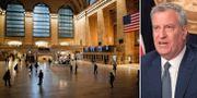 Grand Central Station i New York/Bill de Blasio. TT