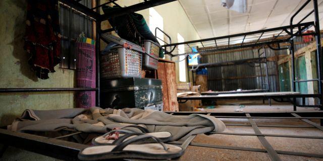 Personliga tillhörigheter som blivit kvar i en sovsal på en skola där Boko Haram gått till attack.  AFOLABI SOTUNDE / TT NYHETSBYRÅN