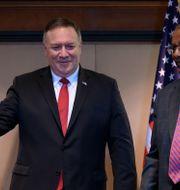 USA:s utrikesminister Mike Pompeo och Etiopiens utrikesminister Gedu Andargachew Andrew Caballero-Reynolds / TT NYHETSBYRÅN