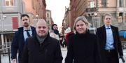 Justitie- och migrationsminister Morgan Johansson (S) och finansminister Magdalena Andersson (S) Stina Stjernkvist/TT / TT NYHETSBYRÅN