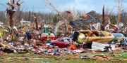 Räddningstjänsten söker efter försvunna i Cookville, Tenneesse. Jack McNeely / TT NYHETSBYRÅN