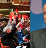 Vänsterpartiets kongress 2018 och partiledare Jonas Sjöstedt.  TT