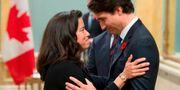 Jody Wilson-Raybould och Justin Trudeau. ADRIAN WYLD / POOL
